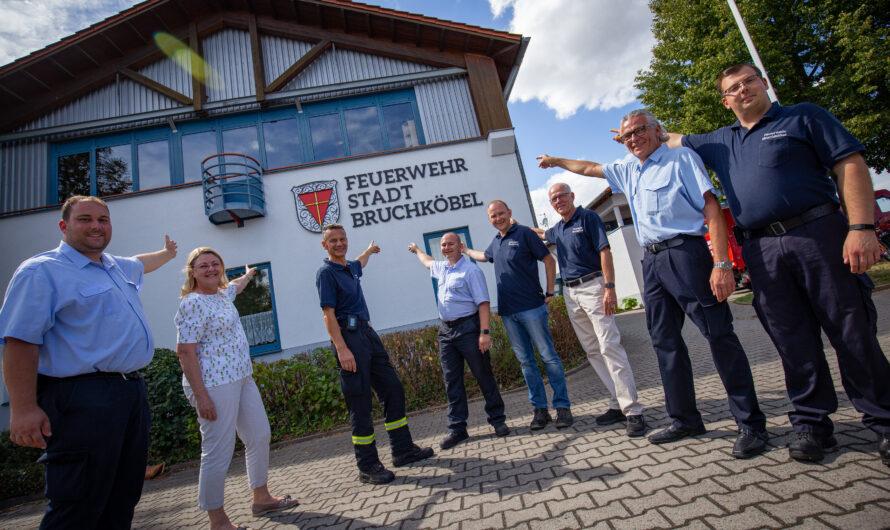 Feuerwehr rettet Stadtwappen