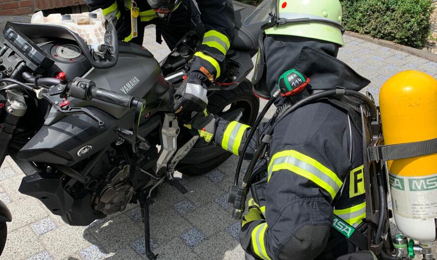 03.07.2020 Brennt Motorrad